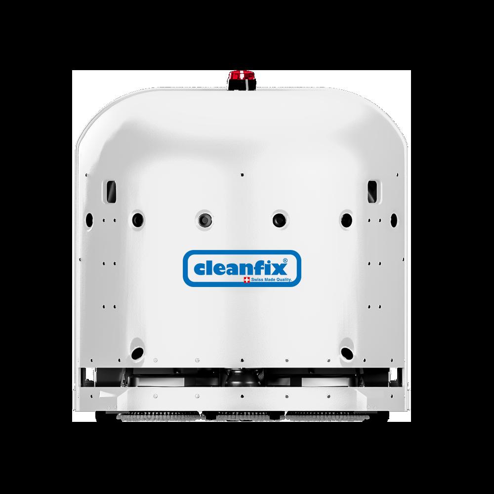 white Cleanfix RA660 Navi robotic floor scrubber, scrubber drier