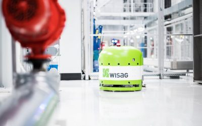 Wisag uses the autonomous cleaning robot RA660 Navi from Cleanfix, at a Munich carmaker