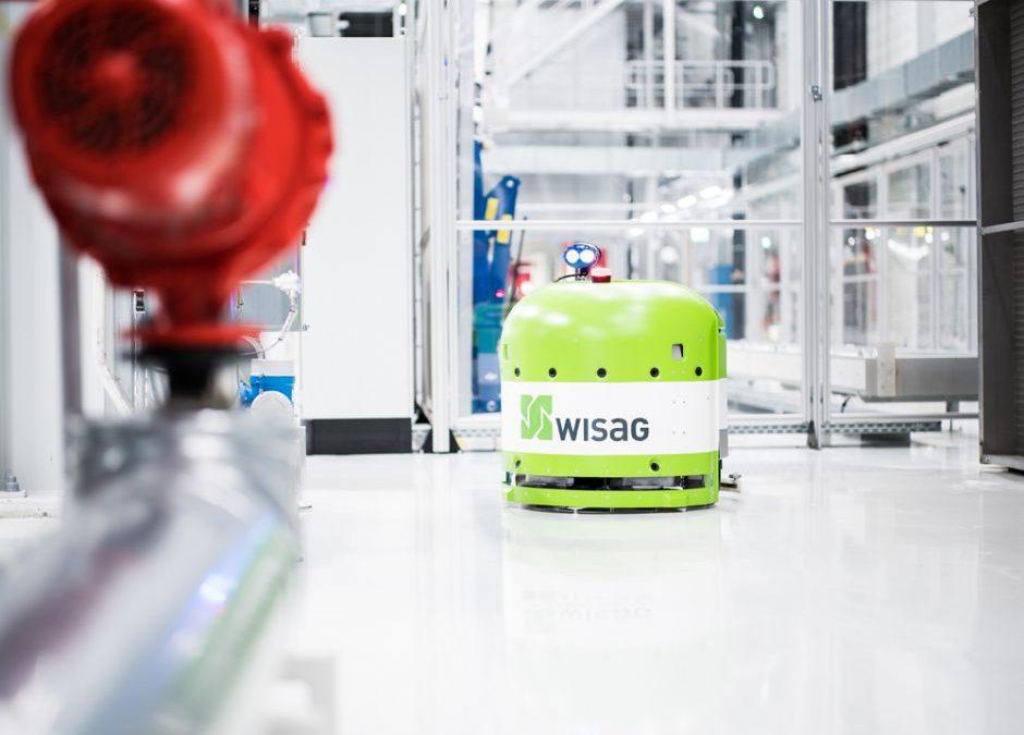 WISAG's Cleanfix RA660 Navi XL autonomous scrubber drier robot