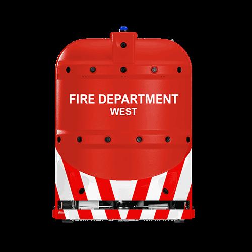fire department robotic floor scrubber RA660 Navi XL from Cleanfix