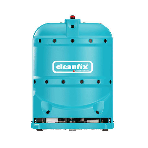 ligh blue robotic floor scrubber RA660 Navi XL from Cleanfix