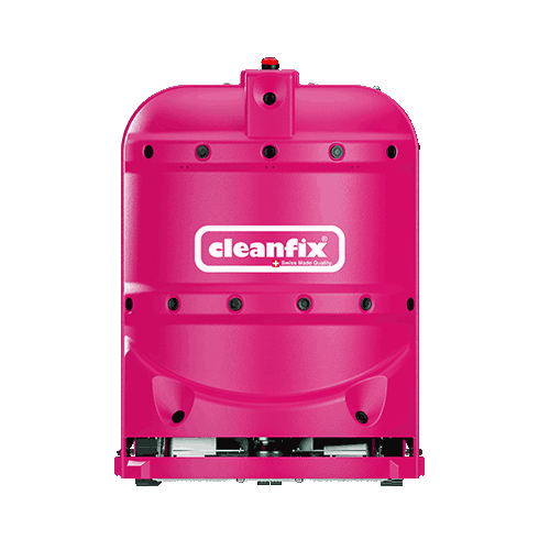 pink robotic floor scrubber RA660 Navi XL from Cleanfix
