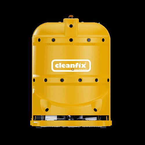 yellow robotic floor scrubber RA660 Navi XL from Cleanfix